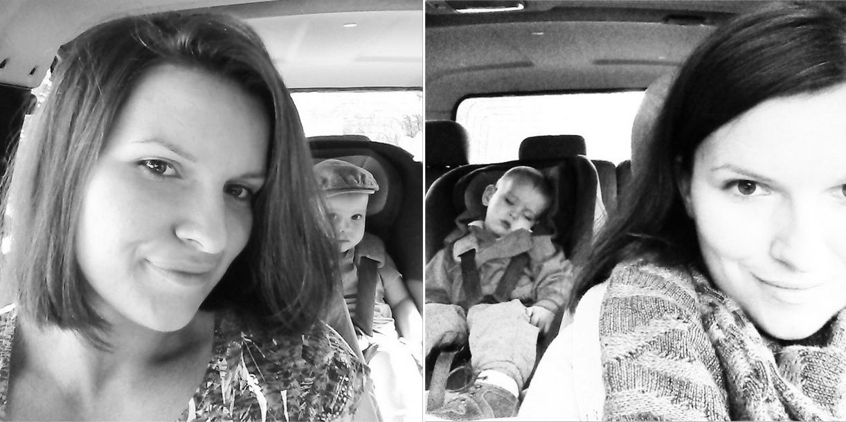 matka za kierownicą