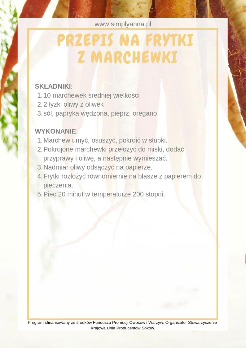 frytki z marchewki przepis
